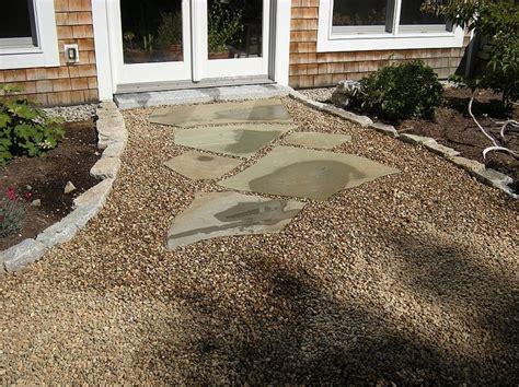 backyard pebble gravel 27 best images about landscape around patio on pinterest