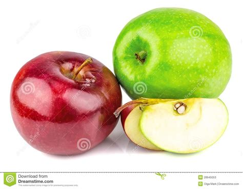 imagenes verdes y rojas manzanas verdes y rojas frescas fotos de archivo imagen