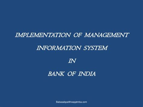 Mba Management Information Systems by Management Information System Mis Mba Ppt