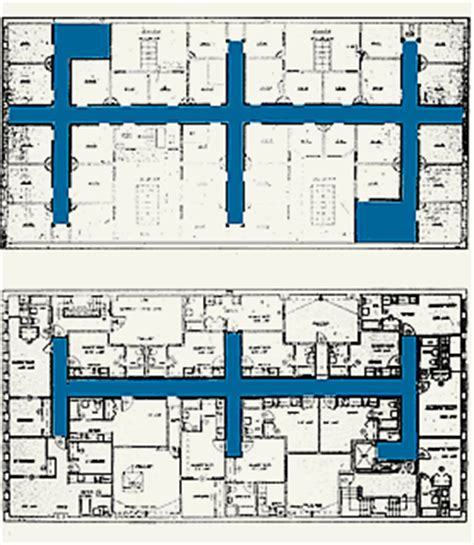 layout of multi storey building compatible treatment of corridor layout generally