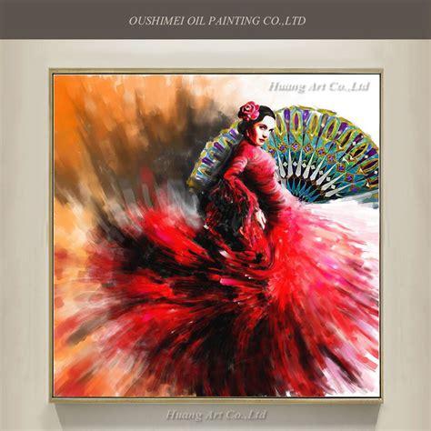 wholesale hand painted high quality flamenco dancer