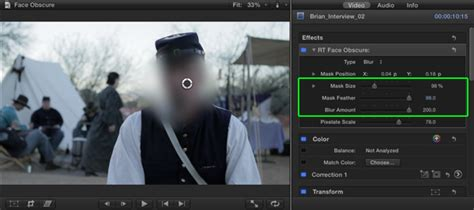 final cut pro blur face face obscure help doc ripple training