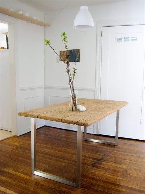 Diy Industrial Dining Room Table 22 Best Images About Dining Table Diy On Pinterest Pecans Industrial Side Table And Legs