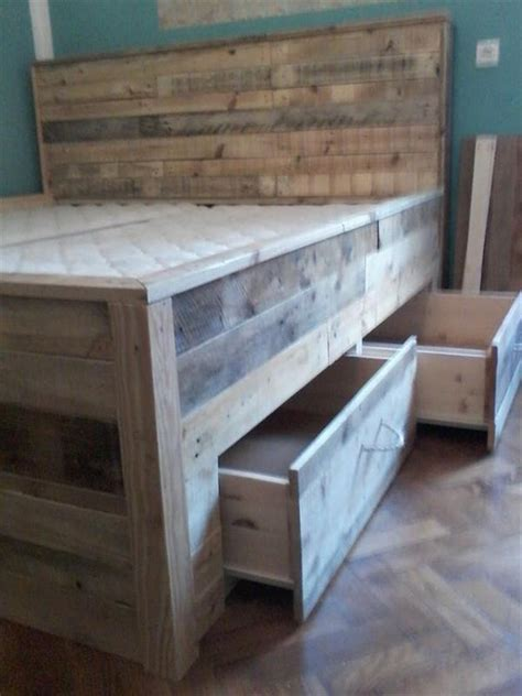 diy pallet bed tutorial pallet bed tutorial built in drawers the bed 101