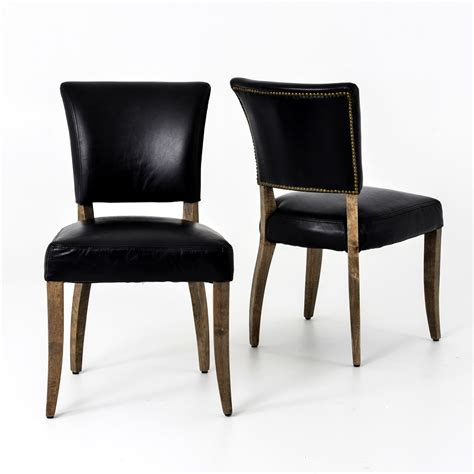 Dining Chairs Black Leather Black Leather Chairs Dining Chairs Seating