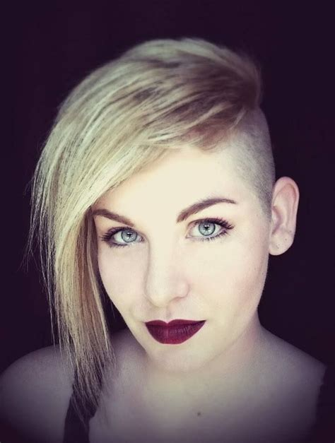 one side shaved hairdo tutorials 124 best images about sidecuts on pinterest