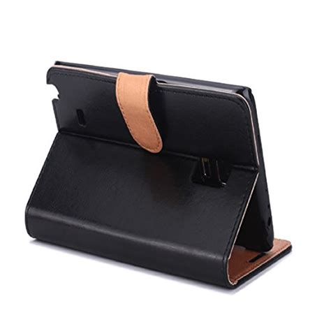 bessky tm for samsung galaxy note edge sm n915 leather flip wallet cover black
