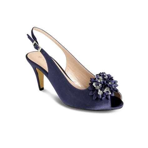of elegance shoes lunar elegance navy flower accessory shoes