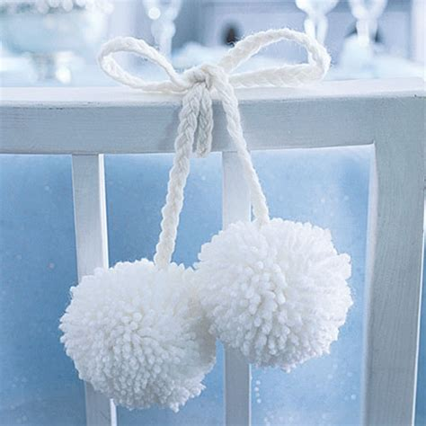 christmas table decorations to make holiday pom poms