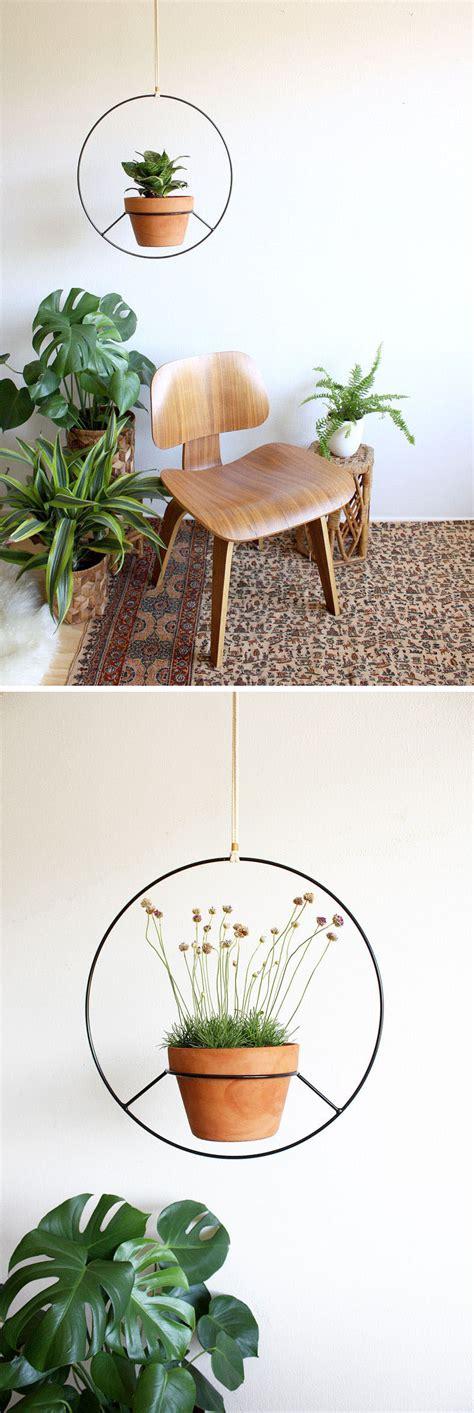 these hanging planters are designed to put a distinct