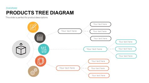 products tree diagram powerpoint and keynote template