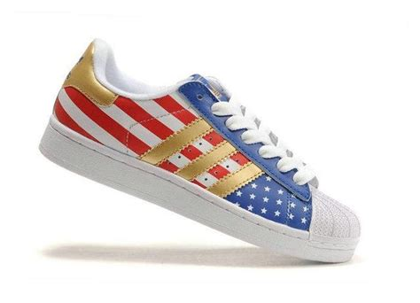 adidas superstar  american flag shoes shoes pinterest