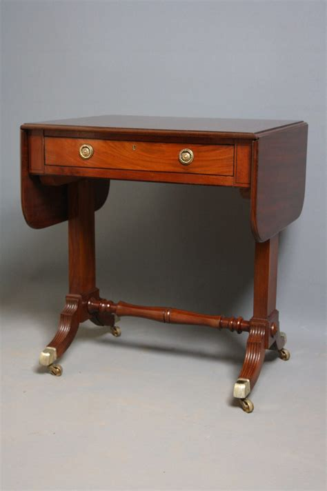 small regency sofa table in mahogany antiques atlas