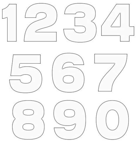 numbers template 20 free various number template diy crafts free