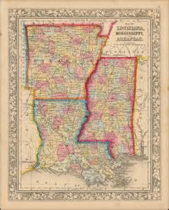 map louisiana and mississippi map of louisiana mississippi and arkansas barry