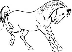 Prancing Outline by Clipart Prancing Outline