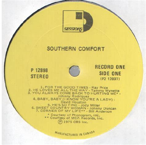 southern comfort substitute various southern comfort 2lp vg canada columbia special