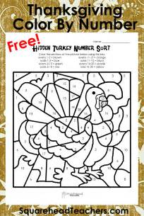 thanksgiving color by number printables homeschool parent thanksgiving and even color by