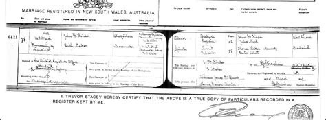 Marriage Records Nsw The Bakers Of Tumut