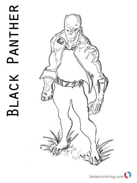 marvel movie coloring pages black panther coloring pages from marvel free printable