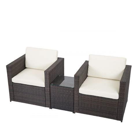 3 PCS Outdoor Patio Sofa Set Sectional Furniture PE Wicker