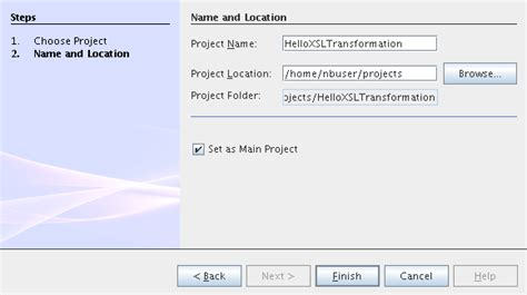 Oracle Xslt Tutorial | creating the xslt module project oracle java caps xslt