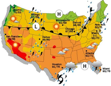 usa temp map weather maps ranger presents weather