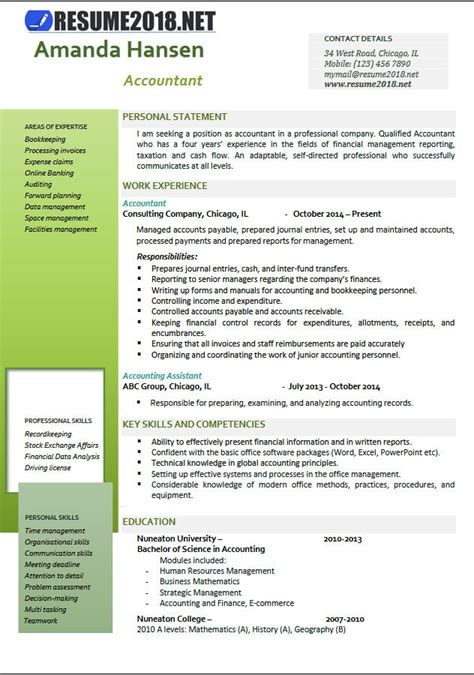 accountant resume exles 2017 accountant resume exles 2018 resume 2018
