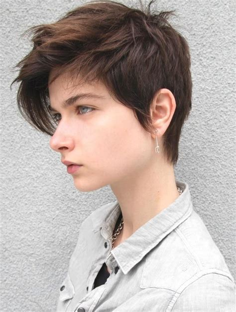tomboy hairstyle 1664 best hair images on pinterest shortish hairstyles
