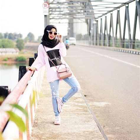 Baju Muslim Remaja Jalan Jalan 14 Model Baju Santai Casual Remaja Muslimah Terbaru