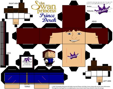 Www Papercraft Au - swan princess prince derek cubeecraft by skgaleana on