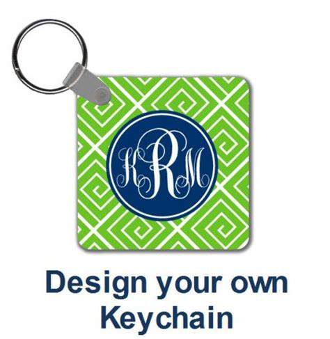 design your own l monogrammed keychains design your own at the pink