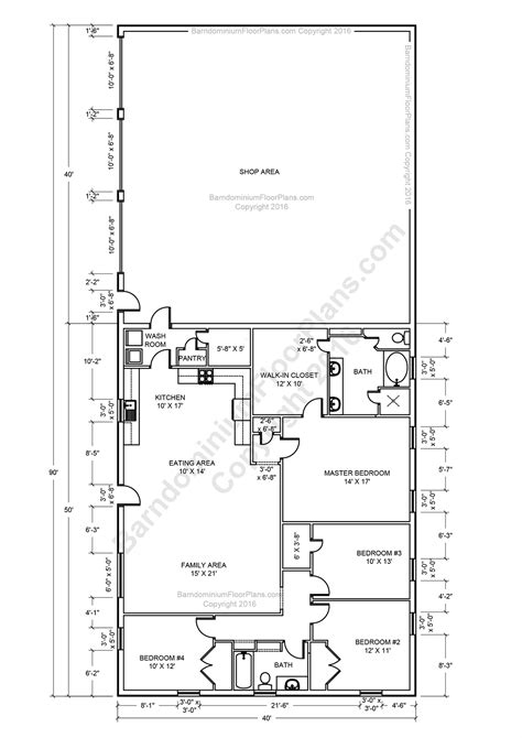 Shop House Plans | barndominium floor plans pole barn house plans and metal