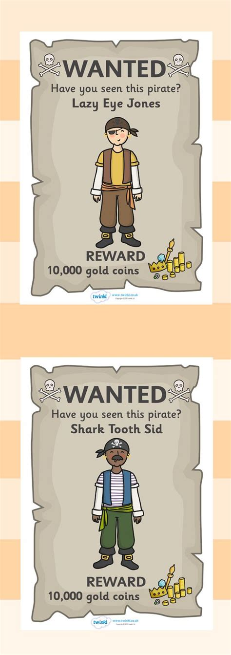 printable wanted poster for classroom twinkl resources gt gt pirate wanted posters gt gt classroom