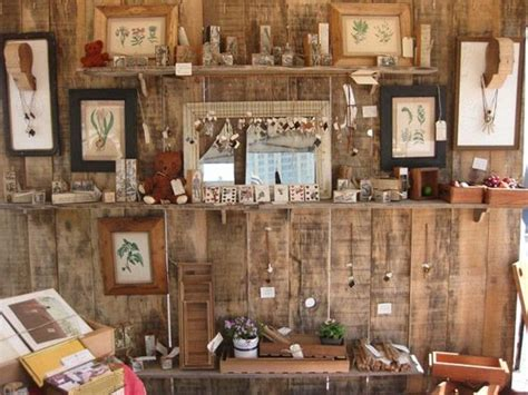 design quarter art shop clever and rustic craft booth display