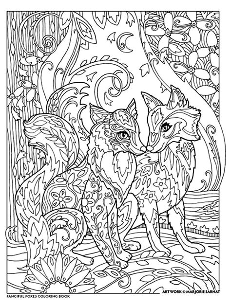 fox coloring book 24 best marjorie sarnat fanciful foxes images on