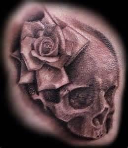 club tattoo tattoos flower skull rose