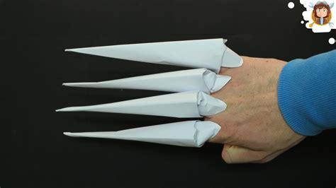Origami Finger Claws - como hacer garras con hojas de papel garras origami