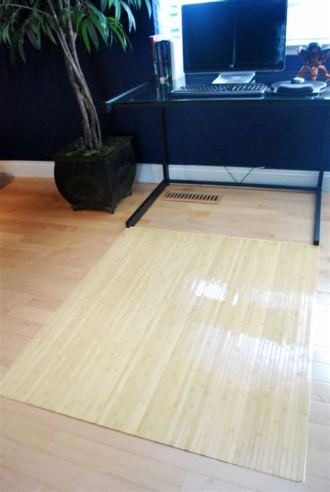 hardwood floor protection natural birch wood bamboo chair mat office floor hard wood