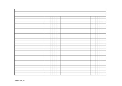 Checking Account Balance Sheet Template by Best Photos Of Blank Balance Sheet Template Blank