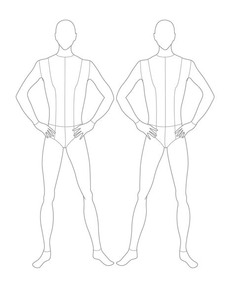 Croqui Fashion Model Templates Male Flat Template Template Design Croquis Pinterest Costume Design Template