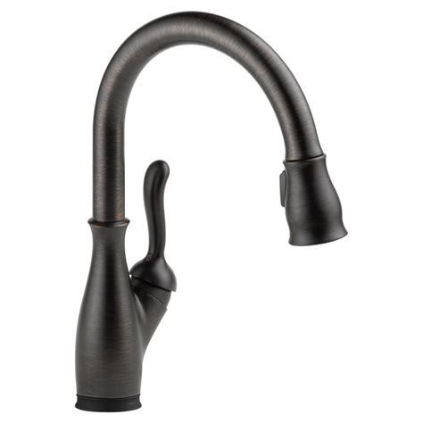 venetian bronze kitchen faucets delta 9178t rb dst venetian bronze pull kitchen faucet