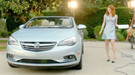 buick commercial actress good for her funny new buick commercial combines cascada convertible