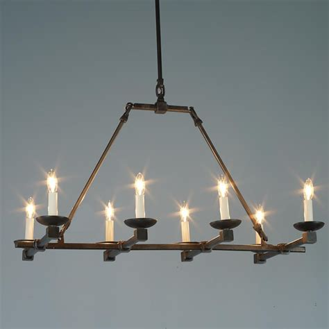 Forged Iron Chandelier Forged Iron Cross Bar Island Chandelier Chandeliers By Shades Of Light