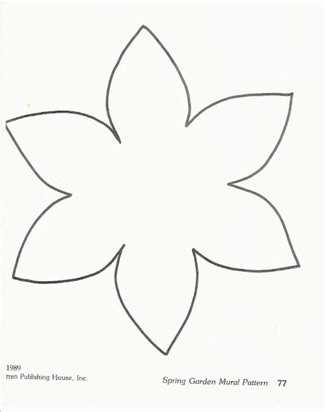 printable flowers templates flower template paper piecied pattern pinterest