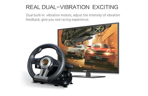 Pxn V3ii Vibration Motor Racing Steering Wheel With Pedal Pc Ps pxn v3ii usb 180 176 steering racing wheel and play