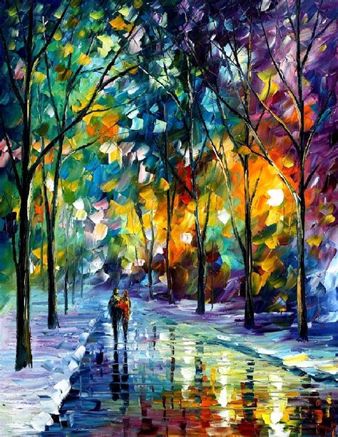 Paint Schemes For House by Leonid Afremov Oil On Canvas Palette Knife Buy Original