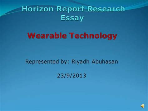 wearable technology research paper wearable technology authorstream