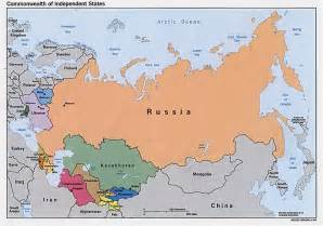 russia and the former soviet republics maps perry