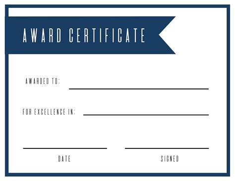 Free Printable Award Certificate Template Paper Trail Design Awards Template